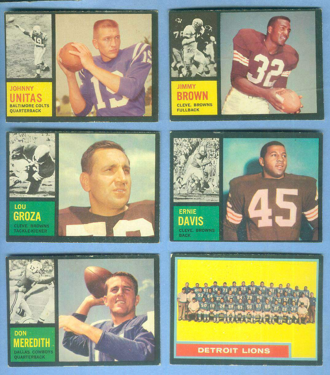 1962 Topps FB #.39 Don Meredith SHORT PRINT [#x] (Cowboys) Football cards value