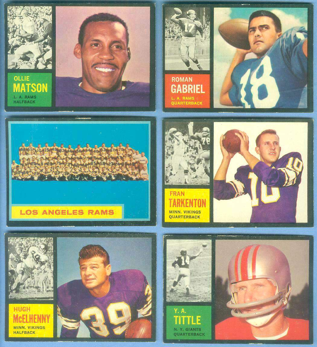 1962 Topps FB #.90 Fran Tarkenton ROOKIE SHORT PRINT (Vikings) Football cards value