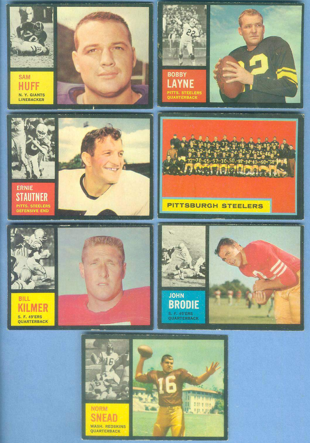 1962 Topps FB #152 John Brodie [#x] (49ers) Football cards value