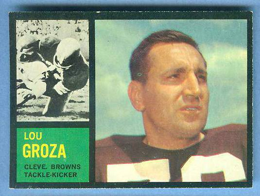1962 Topps FB #.32 Lou Groza [#b] (Browns) Football cards value