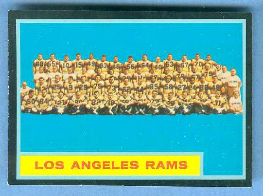 1962 Topps FB #.89 Los Angeles Rams TEAM CARD [#a] SHORT PRINT Football cards value