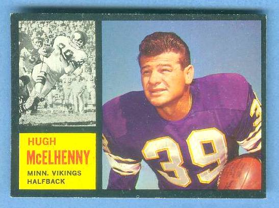1962 Topps FB #.92 Hugh McElhenny [#a] SHORT PRINT (Vikings) Football cards value