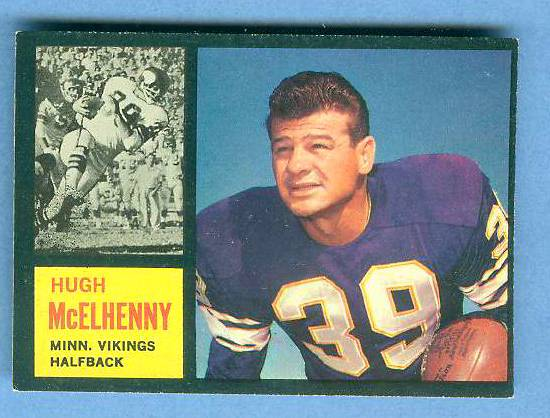 1962 Topps FB #.92 Hugh McElhenny [#b] SHORT PRINT (Vikings) Football cards value