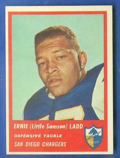 1963 Fleer FB #76 Ernie Ladd Football cards value