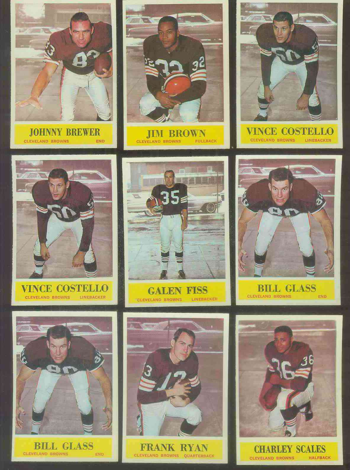 1964 Philadelphia FB #.30 Jim Brown Football cards value