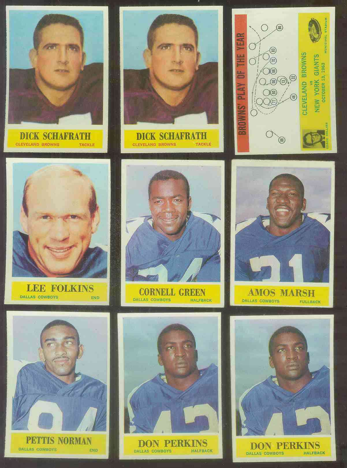 1964 Philadelphia FB #.53 Don Perkins Football cards value