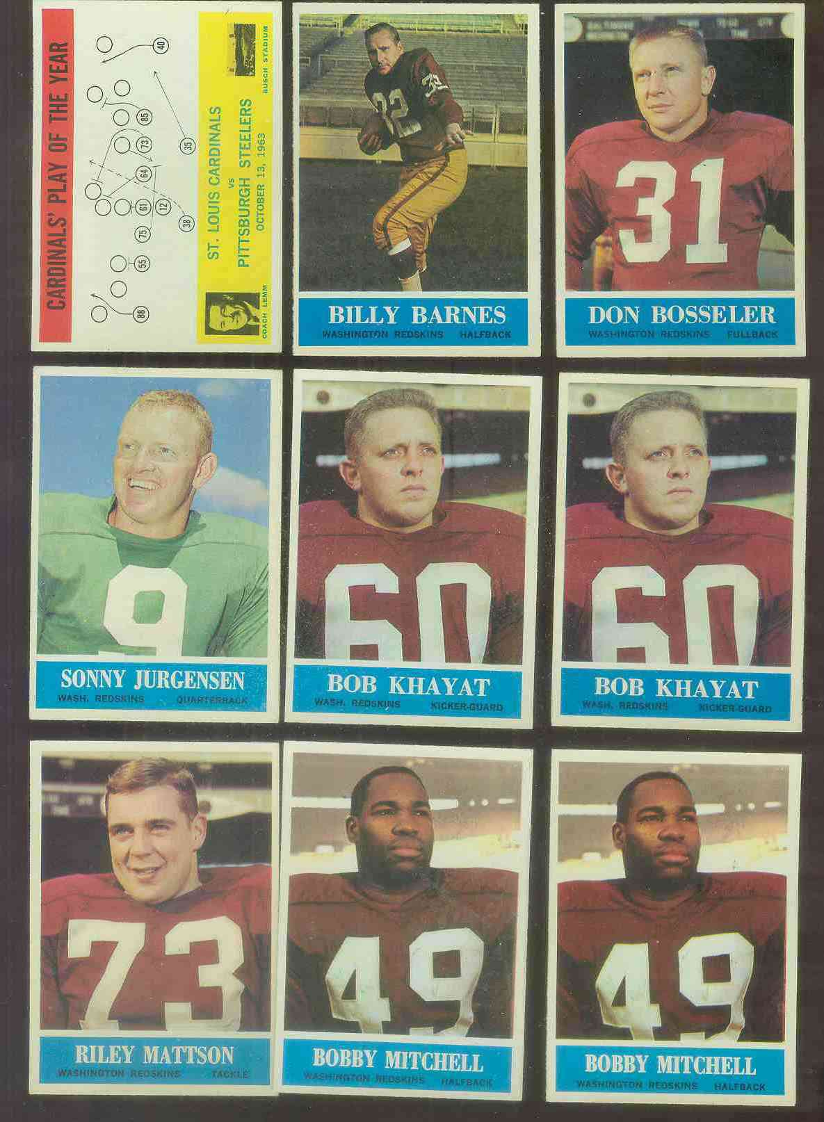 1964 Philadelphia FB #189 Bobby Mitchell Football cards value