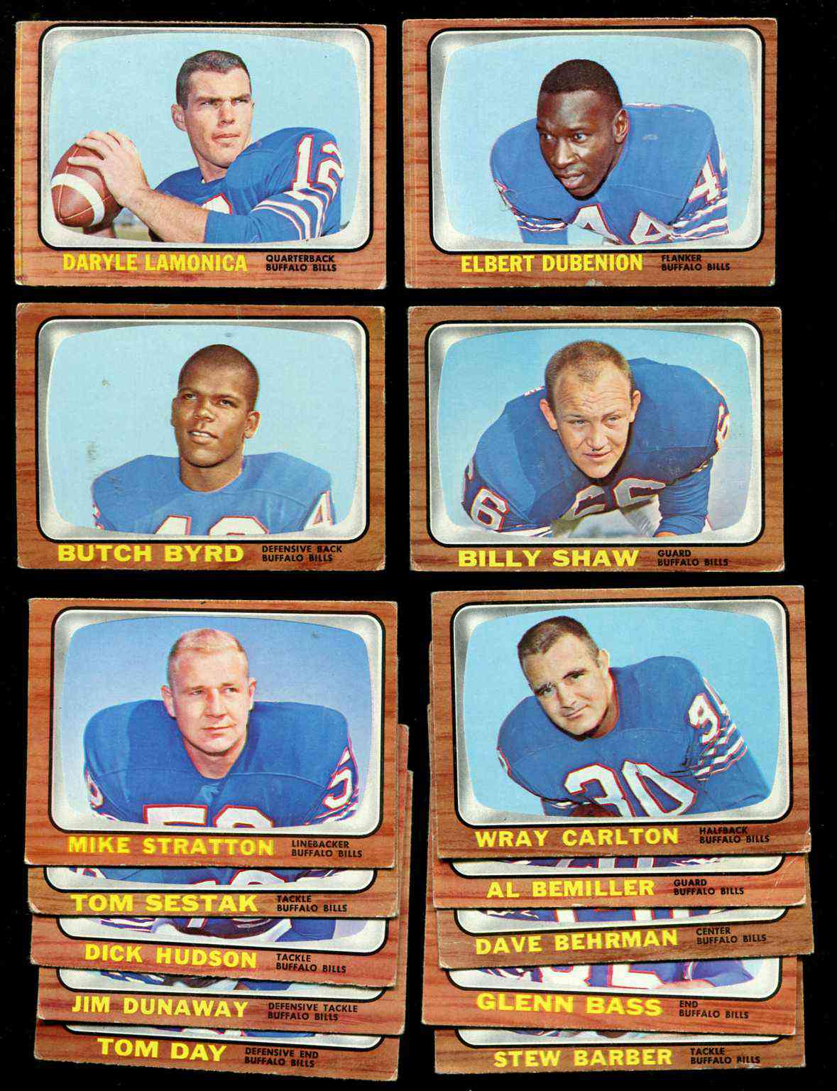 1966 Topps FB - BUFFALO BILLS Team Lot (7) cards [#z] w/Daryle Lamonica ... Football cards value