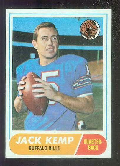 1968 Topps FB #149 Jack Kemp (Bills) Football cards value