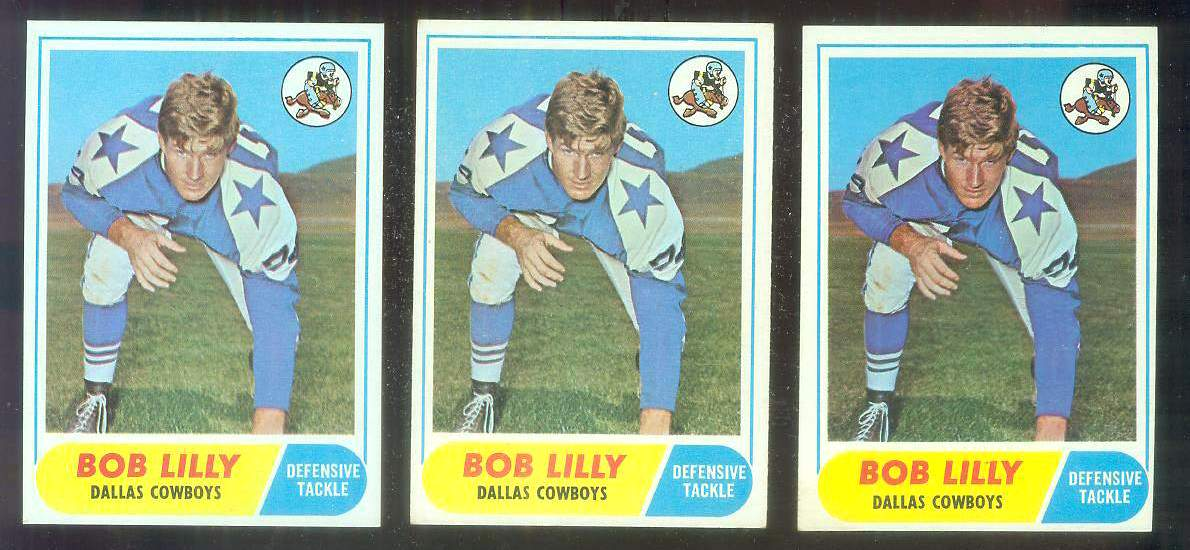 1968 Topps FB #181 Bob Lilly [#c] (Cowboys) Football cards value