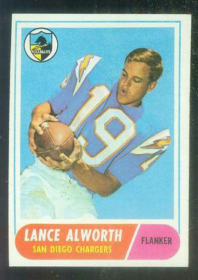 1968 Topps FB #193 Lance Alworth [#a] (Chargers) Football cards value