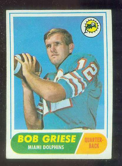 1968 Topps FB #196 Bob Griese ROOKIE (Dolphins) Football cards value