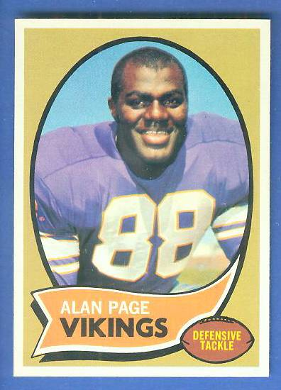 1970 Topps FB #.59 Alan Page ROOKIE [#a] Football cards value