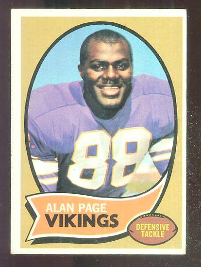 1970 Topps FB #.59 Alan Page ROOKIE [#b] Football cards value