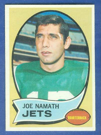 1970 Topps FB #150 Joe Namath [#a] Football cards value
