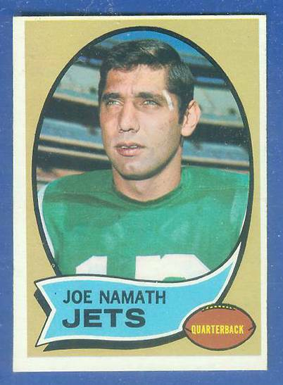 1970 Topps FB #150 Joe Namath [#b] Football cards value