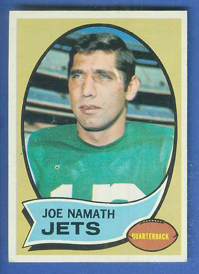 1970 Topps FB #150 Joe Namath [#c] Football cards value