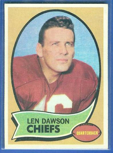 1970 Topps FB #..1 Len Dawson (Chiefs) Football cards value