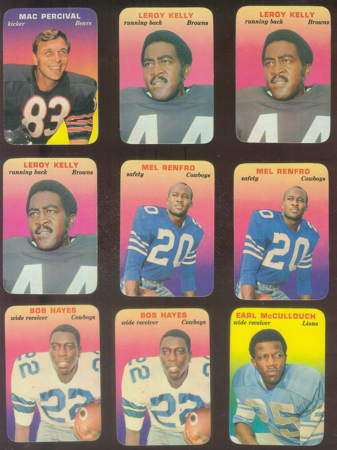 1970 Topps Glossy FB Inserts #.7 Bob Hayes (Cowboys) Football cards value