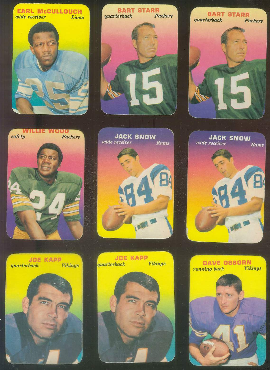 1970 Topps Glossy FB Inserts #.9 Bart Starr (Packers) Football cards value