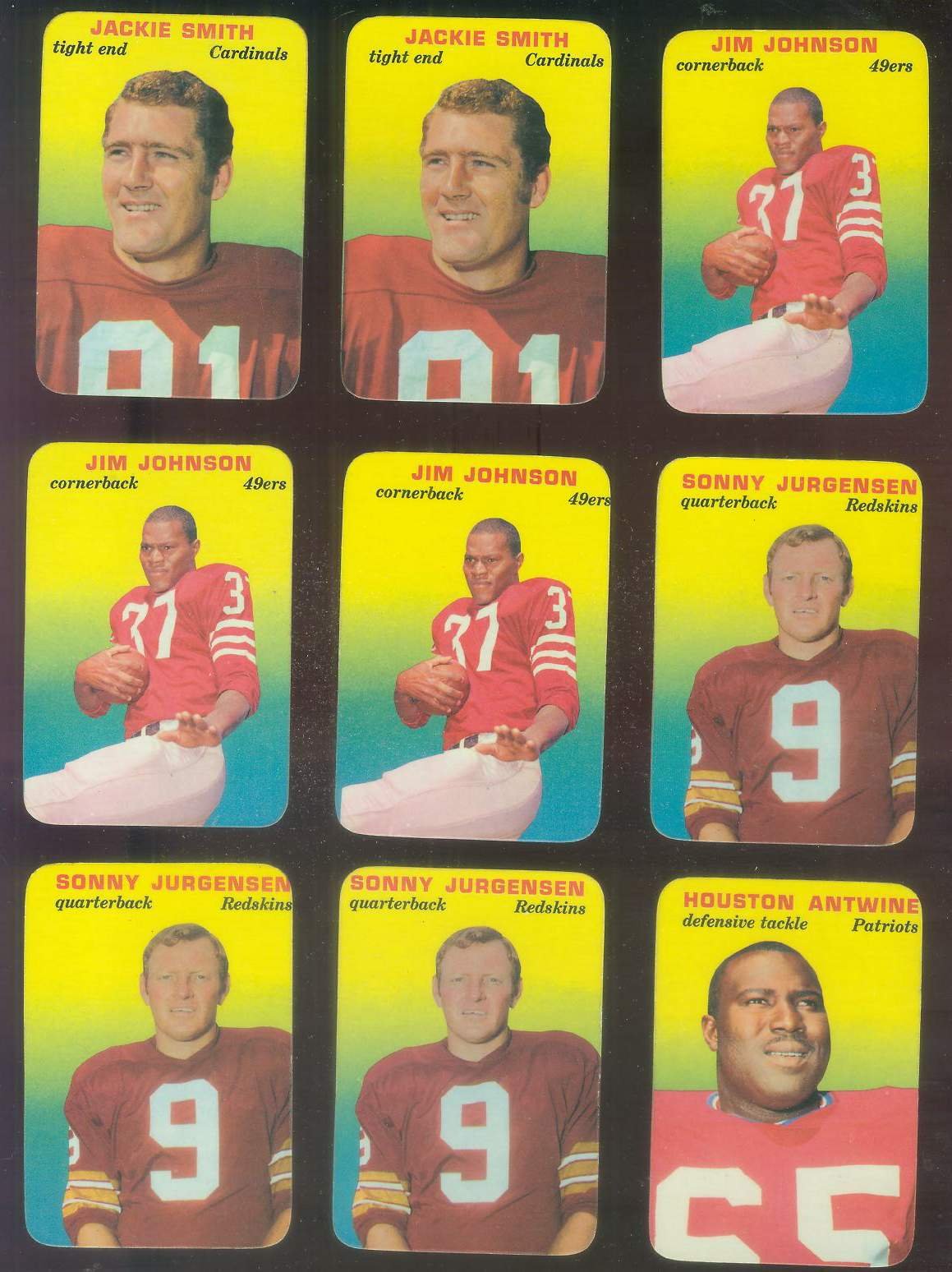 1970 Topps Glossy FB Inserts #20 Sonny Jurgensen (Redskins) Football cards value