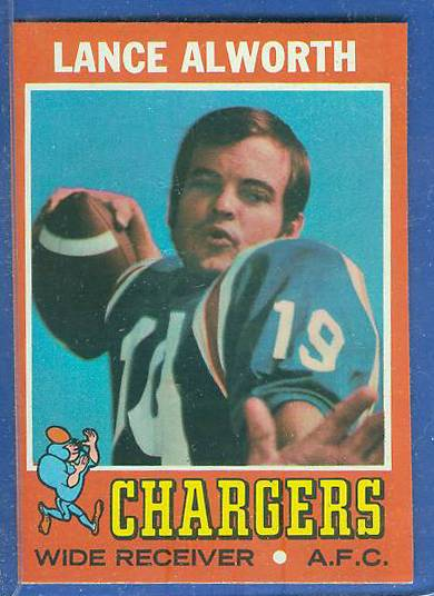 1971 Topps FB #.10 Lance Alworth [#a] (Chargers) Football cards value