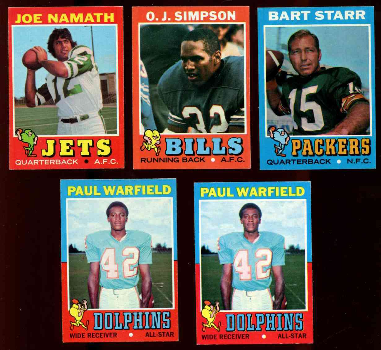 1971 Topps FB #200 Bart Starr (Packers) Football cards value