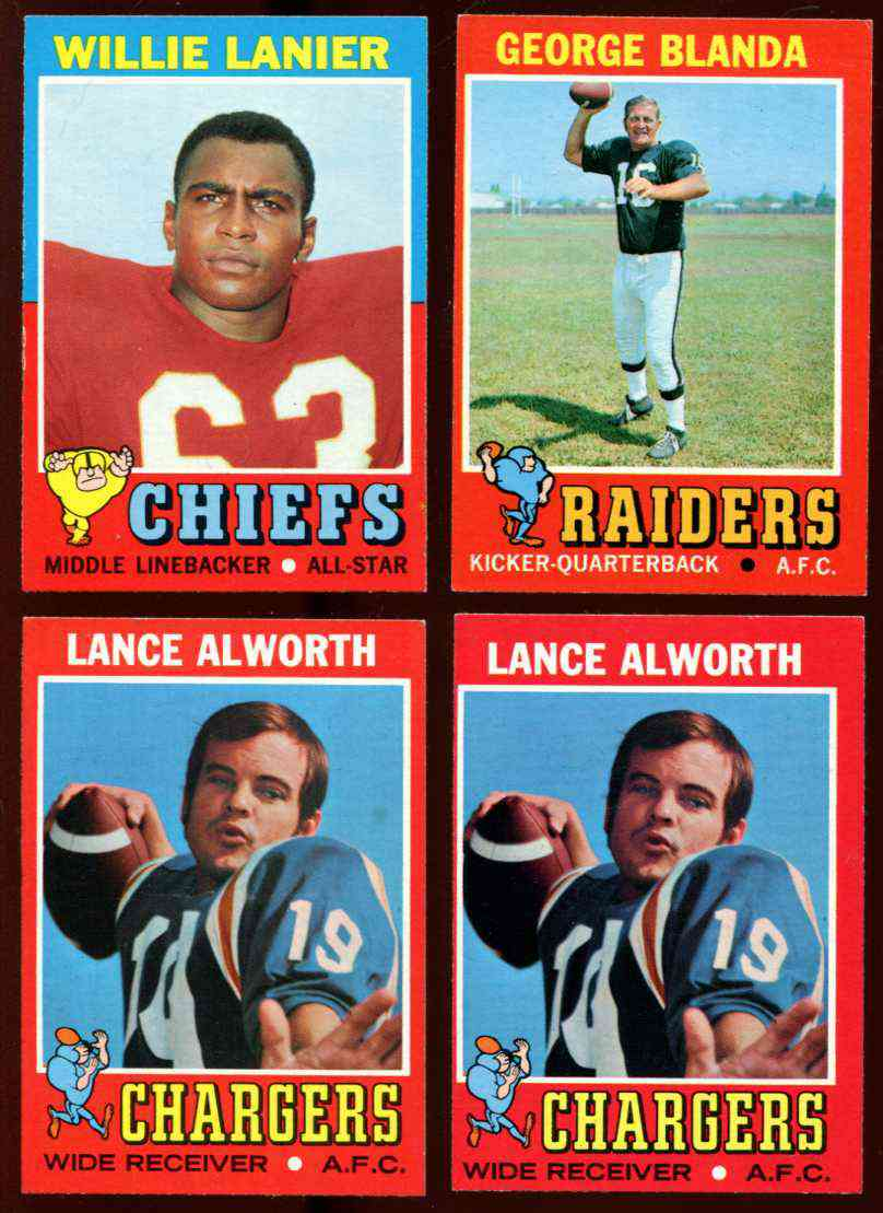 1971 Topps FB #114 Willie Lanier ROOKIE (Chiefs) Football cards value