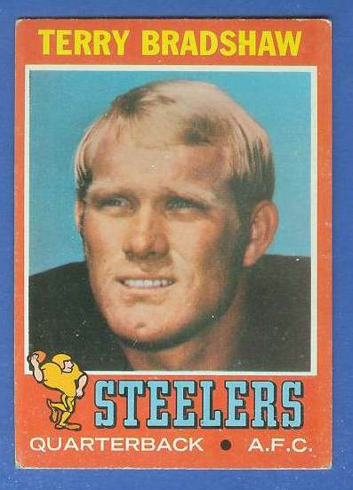 1971 Topps FB #156 Terry Bradshaw ROOKIE [#c] (Steelers) Baseball cards value