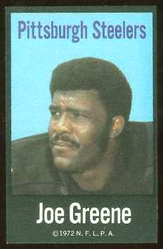 Joe Greene - 1972 NFLPA FABRIC FB card Football cards value