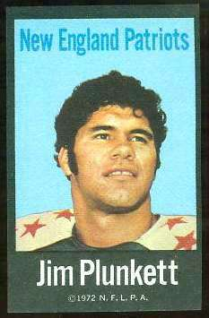 Jim Plunkett - 1972 NFLPA FABRIC FB ROOKIE card Football cards value
