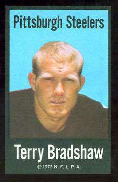 Terry Bradshaw - 1972 NFLPA FABRIC FB card Football cards value