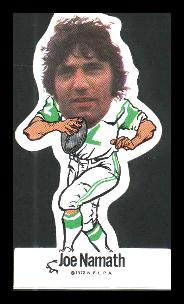 Joe Namath - 1972 NFL Player's Assoc. Vinyl Sticker FB Football cards value