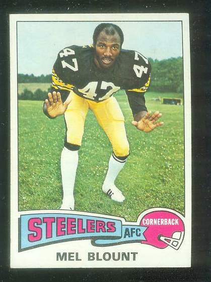 1975 Topps FB #.12 Mel Blount ROOKIE [#b] Football cards value