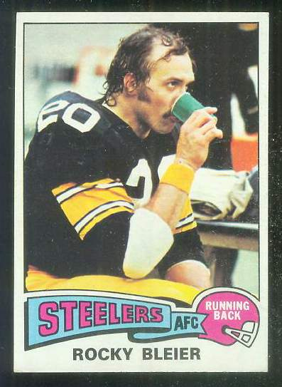 1975 Topps FB #.39 Rocky Bleier ROOKIE [#b] Football cards value