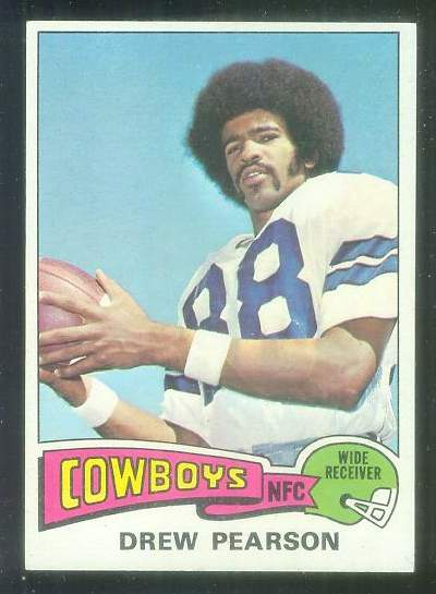 1975 Topps FB #.65 Drew Pearson ROOKIE [#a] Football cards value