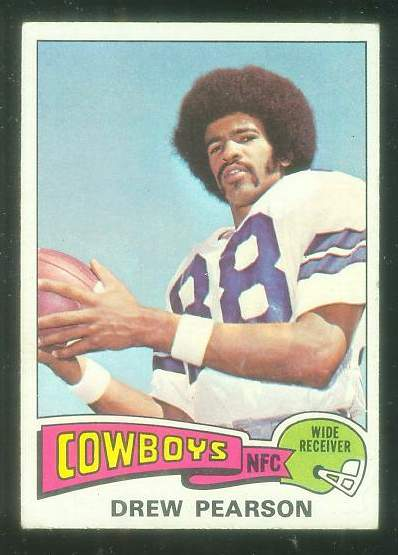 1975 Topps FB #.65 Drew Pearson ROOKIE [#b] Football cards value