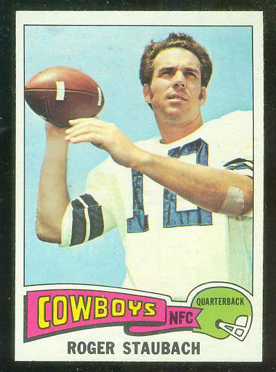 1975 Topps FB #145 Roger Staubach [#a] Football cards value