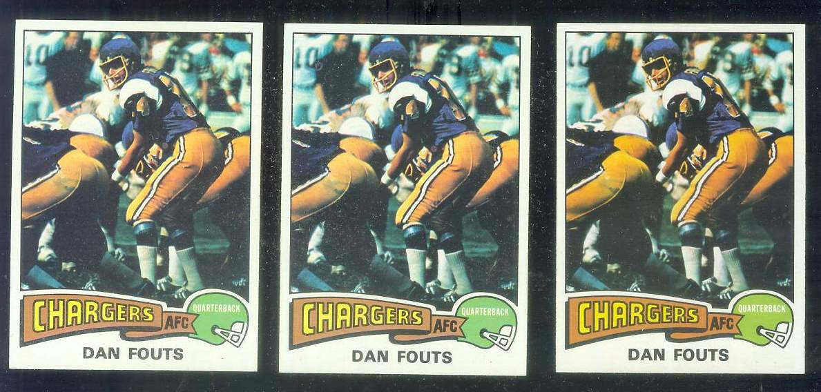 1975 Topps FB #367 Dan Fouts ROOKIE [#b] Football cards value