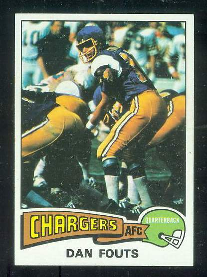 1975 Topps FB #367 Dan Fouts ROOKIE [#d] Football cards value