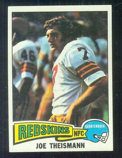 1975 Topps FB #416 Joe Theismann ROOKIE [#a] Football cards value
