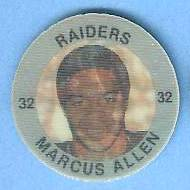 1983 7-Eleven FB Discs #.5 Marcus Allen ROOKIE Football cards value