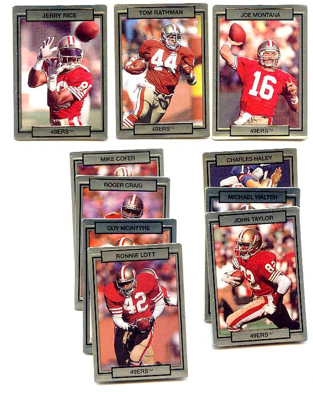 San Francisco 49ers - CASE of (24) 1990 Action Packed FACTORY TEAM SETS Football cards value