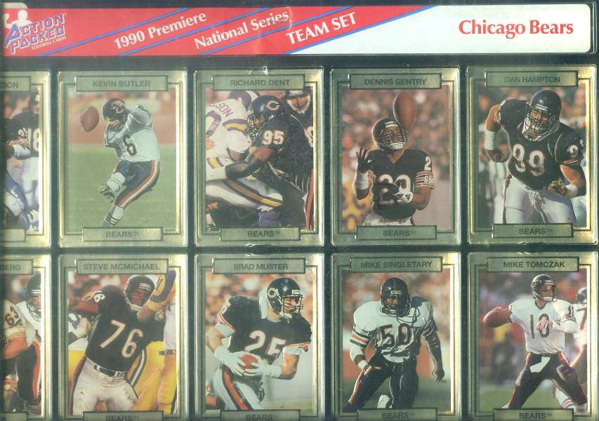 Chicago Bears - CASE of (20) 1990 Action Packed FACTORY TEAM SETS Football cards value