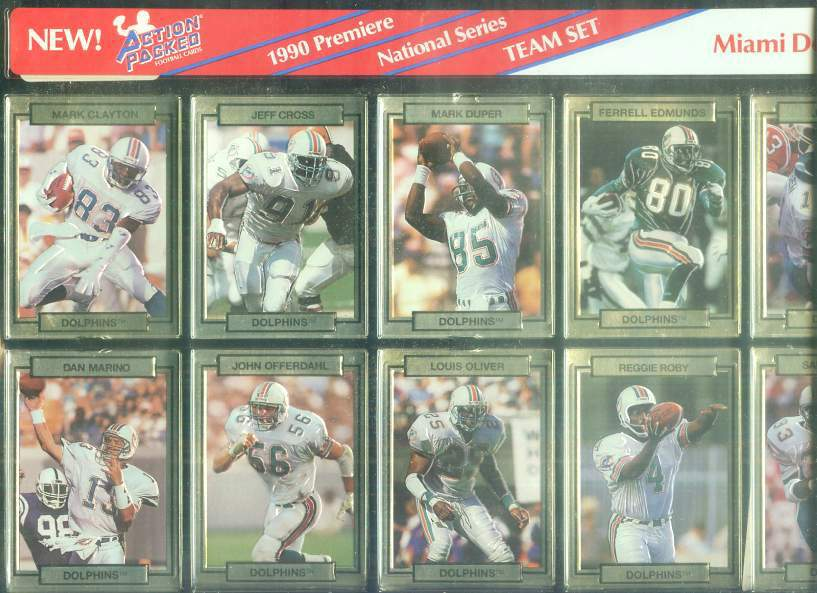 Miami Dolphins - CASE of (20) 1990 Action Packed FACTORY TEAM SETS Football cards value