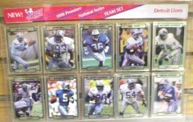 Detroit Lions - CASE of (24) 1990 Action Packed FACTORY TEAM SETS Football cards value