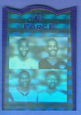 1996 SP SPx Force #FR2 Barry Sanders/Emmitt Smith/Marshall Faulk Football cards value