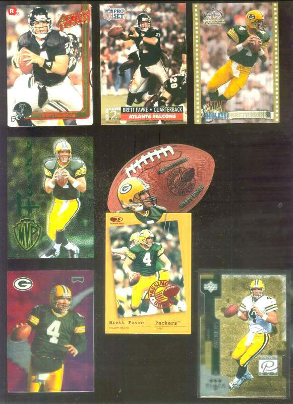 1996 SkyBox Premium 'Brett Favre MVP' #1 Brett Favre FOIL Football cards value