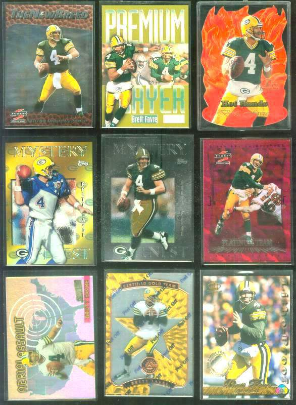 1997 Score New Breed #18 Brett Favre Football cards value