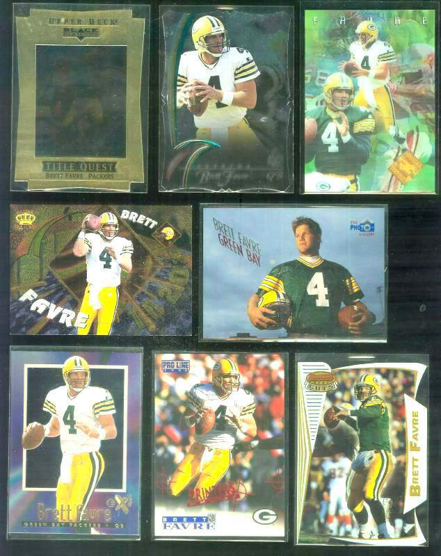 1996 Bowman's Best Cuts #5 Brett Favre REFRACTOR Football cards value